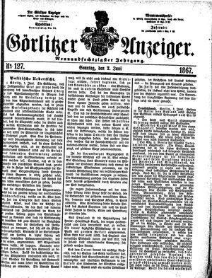 Görlitzer Anzeiger vom 02.06.1867