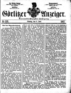 Görlitzer Anzeiger on Jun 4, 1867
