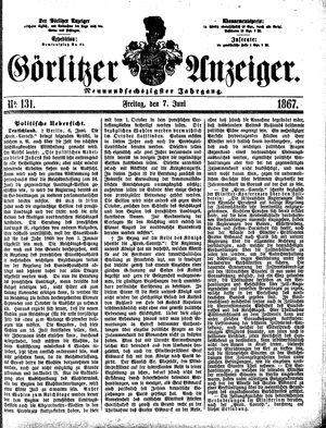 Görlitzer Anzeiger vom 07.06.1867