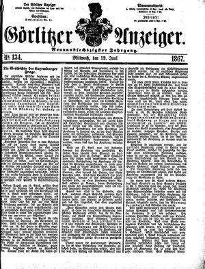 Görlitzer Anzeiger vom 12.06.1867