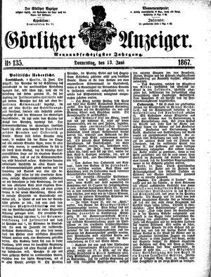 Görlitzer Anzeiger vom 13.06.1867