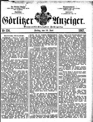 Görlitzer Anzeiger vom 14.06.1867