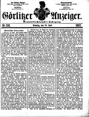 Görlitzer Anzeiger vom 16.06.1867