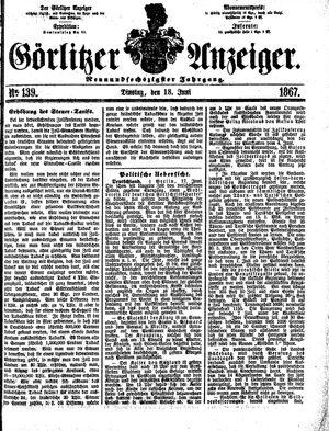 Görlitzer Anzeiger vom 18.06.1867