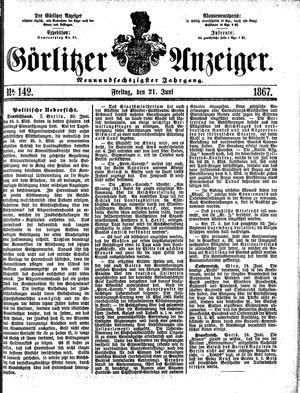 Görlitzer Anzeiger vom 21.06.1867