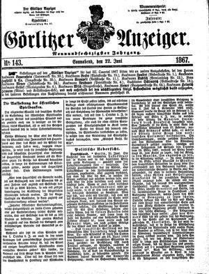 Görlitzer Anzeiger vom 22.06.1867