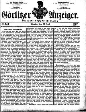 Görlitzer Anzeiger vom 23.06.1867