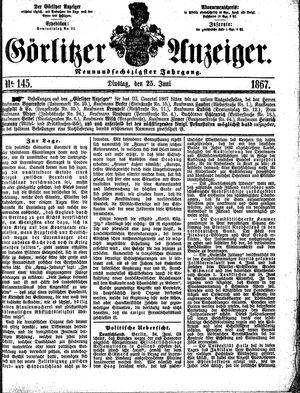 Görlitzer Anzeiger vom 25.06.1867