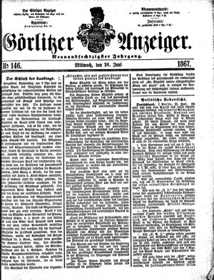 Görlitzer Anzeiger vom 26.06.1867