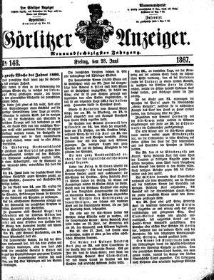 Görlitzer Anzeiger vom 28.06.1867