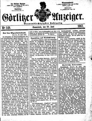 Görlitzer Anzeiger vom 29.06.1867