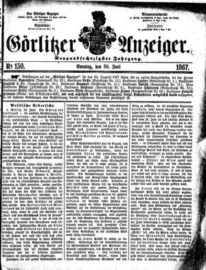 Görlitzer Anzeiger vom 30.06.1867