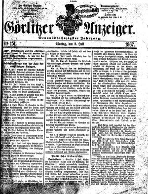 Görlitzer Anzeiger vom 02.07.1867