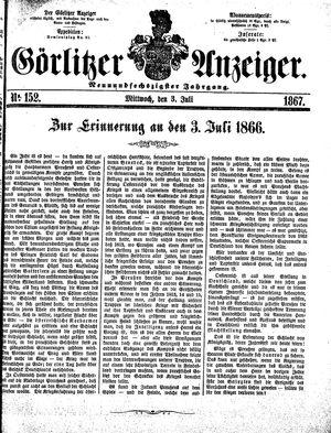Görlitzer Anzeiger on Jul 3, 1867