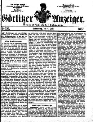 Görlitzer Anzeiger vom 04.07.1867