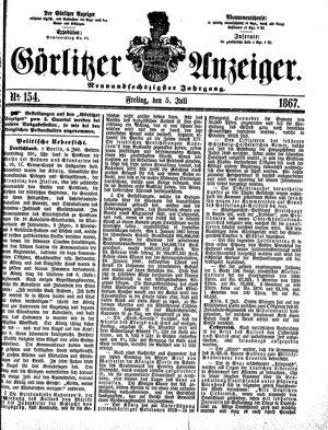 Görlitzer Anzeiger vom 05.07.1867