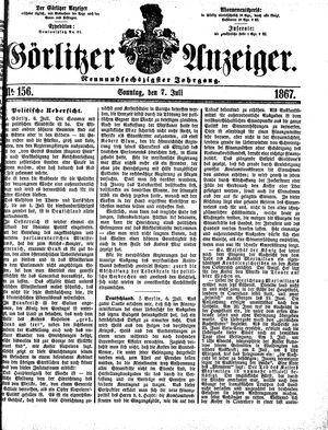 Görlitzer Anzeiger vom 07.07.1867