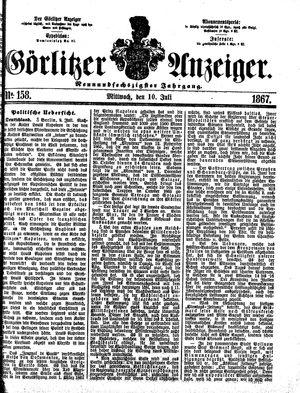 Görlitzer Anzeiger vom 10.07.1867