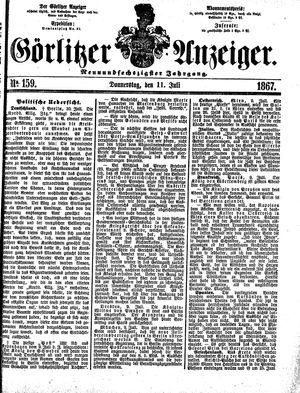 Görlitzer Anzeiger vom 11.07.1867