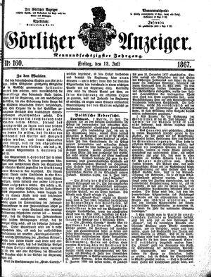 Görlitzer Anzeiger vom 12.07.1867