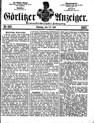 Görlitzer Anzeiger vom 14.07.1867