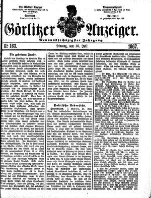 Görlitzer Anzeiger vom 16.07.1867