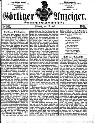 Görlitzer Anzeiger vom 17.07.1867