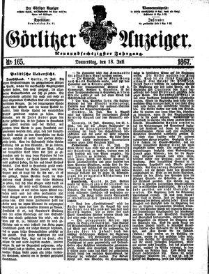 Görlitzer Anzeiger on Jul 18, 1867