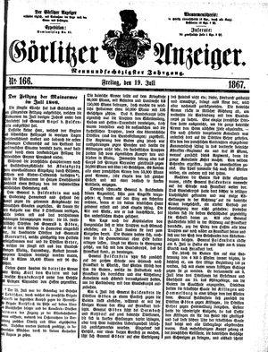 Görlitzer Anzeiger vom 19.07.1867