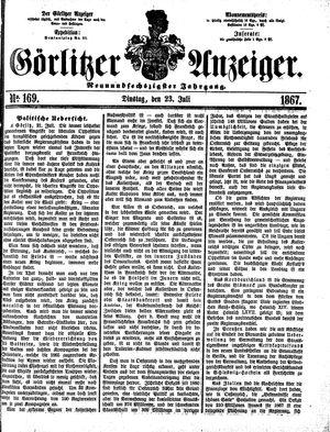 Görlitzer Anzeiger vom 23.07.1867
