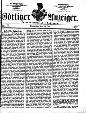 Görlitzer Anzeiger vom 25.07.1867