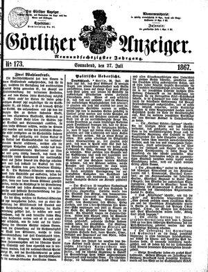 Görlitzer Anzeiger vom 27.07.1867