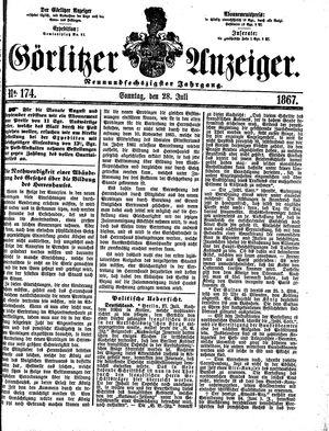 Görlitzer Anzeiger on Jul 28, 1867