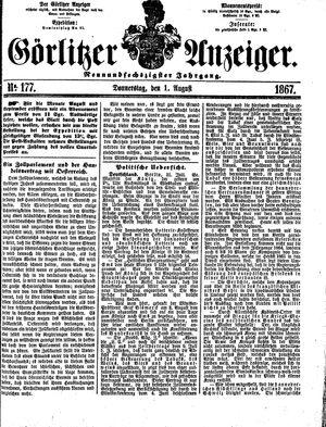 Görlitzer Anzeiger vom 01.08.1867