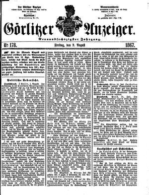 Görlitzer Anzeiger vom 02.08.1867