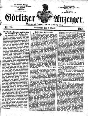 Görlitzer Anzeiger vom 03.08.1867