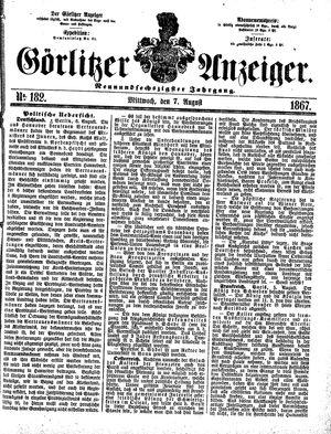 Görlitzer Anzeiger on Aug 7, 1867
