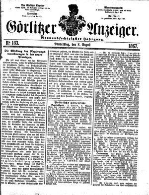 Görlitzer Anzeiger vom 08.08.1867