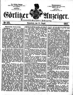 Görlitzer Anzeiger vom 10.08.1867