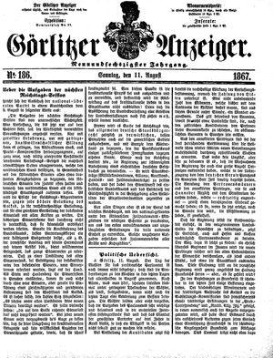 Görlitzer Anzeiger vom 11.08.1867
