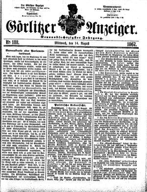 Görlitzer Anzeiger vom 14.08.1867