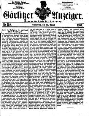 Görlitzer Anzeiger vom 15.08.1867