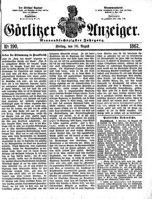 Görlitzer Anzeiger vom 16.08.1867
