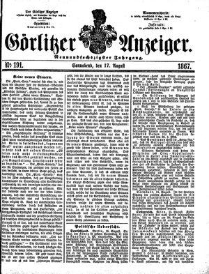 Görlitzer Anzeiger vom 17.08.1867