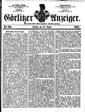 Görlitzer Anzeiger vom 23.08.1867
