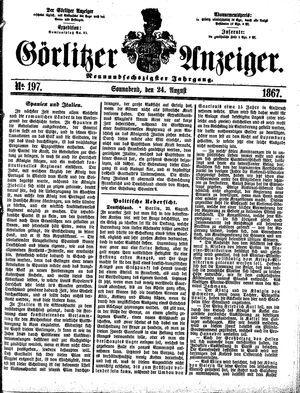 Görlitzer Anzeiger vom 24.08.1867