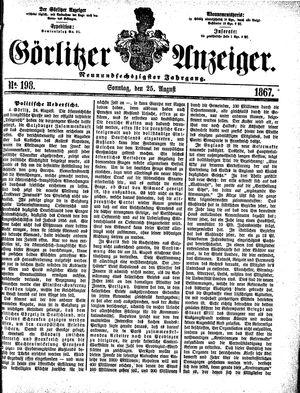 Görlitzer Anzeiger vom 25.08.1867