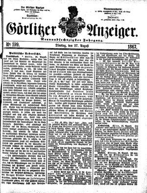 Görlitzer Anzeiger vom 27.08.1867