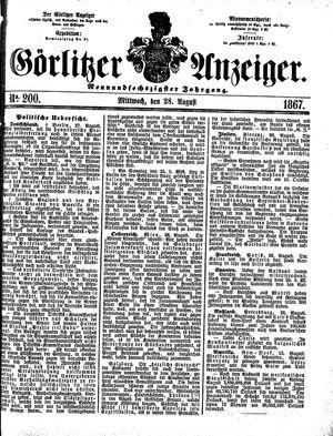 Görlitzer Anzeiger vom 28.08.1867