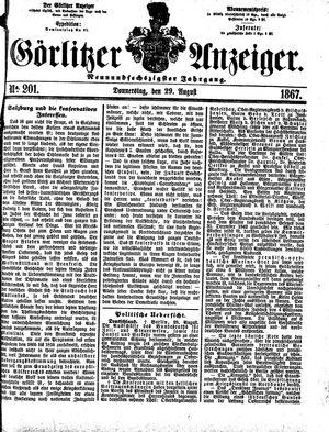 Görlitzer Anzeiger vom 29.08.1867